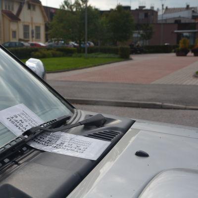 Felparkeringssavgift.
