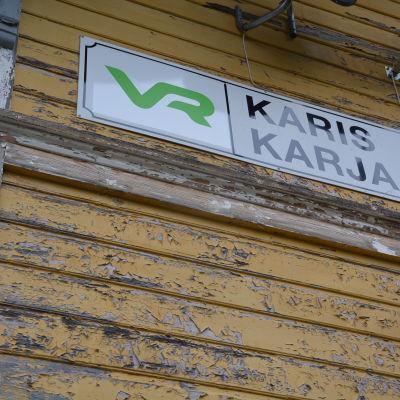 Karis tågstation.