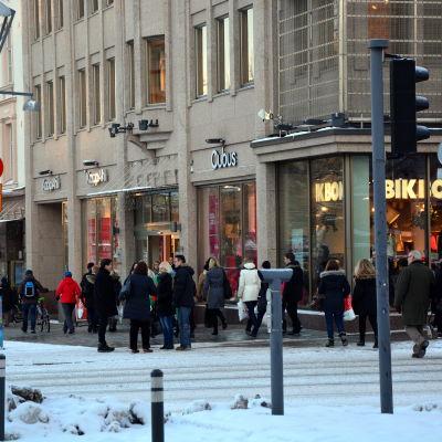 Många fyndade på mellandagsrean i Vasa.
