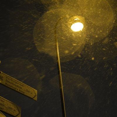 Snö i Borgå.