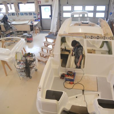 Arbete pågår på Freja Marine
