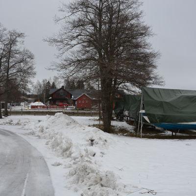 Ingå småbåtshamn vintertid