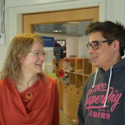 Carina Gräsbeck och Jerry Wahlforss i Morgonparlamentet