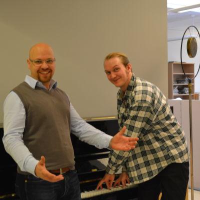 Sångarbröderna Anders Stennabba och Patrik Salmi