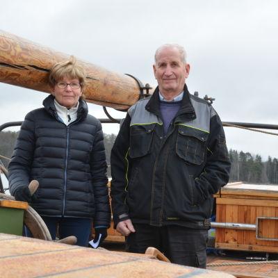 Irmeli Thomasson och Esko Päivinen på Österstjernan.
