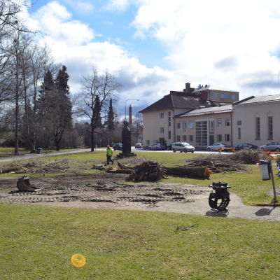 Skolparken i Jakobstad i april 2015