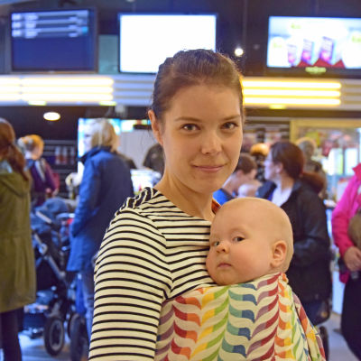 Maria Fagerholm och dottern Freja.
