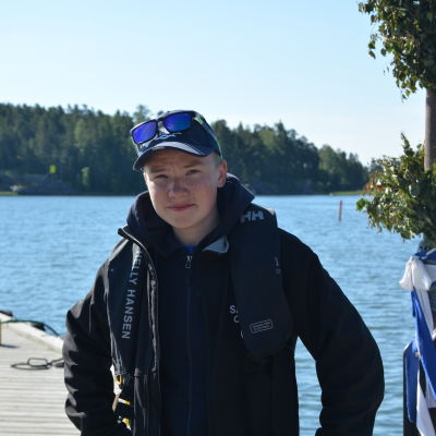 André Silfver, sommarjobbare på Sandnäsudd