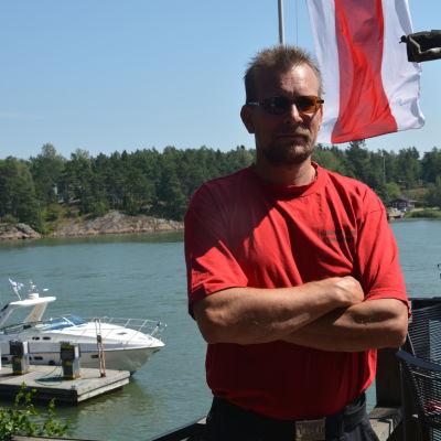 Företagare Johan Bäckström, Barösunds Esso