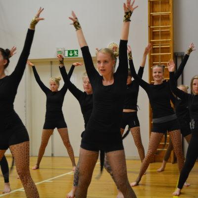 Dansövningar på Ströhö.