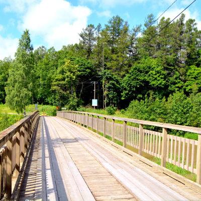 Den gamla bron på Forsby sågområde