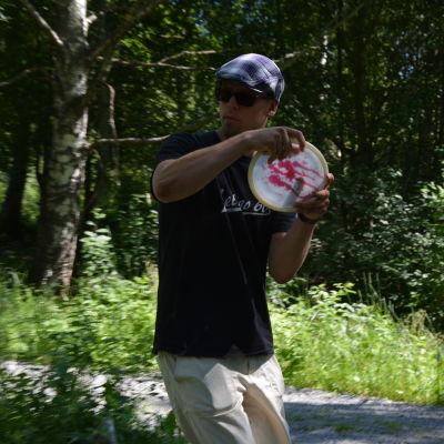 Tommy Backman frisbeegolfar