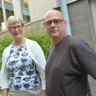 Lea Adolfsson och Egon Blomqvist.