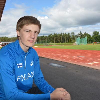Oliver Helander, IF Raseborg, i landslagsdressen
