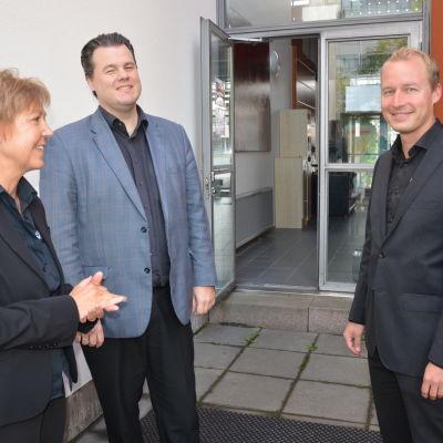 Monica Johnson, Henri Sigfridsson och Richard Mitts