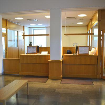 Banksalen i Bankhuset på Krämaretorget 2.