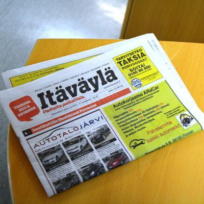 Bild på tidningen Itäväylä.
