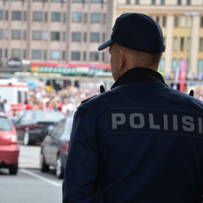 Polis i Åbo under Vi har en dröm demonstrationen