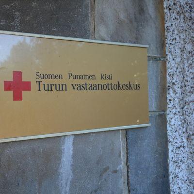 Flyktingförläggningen i Åbo.