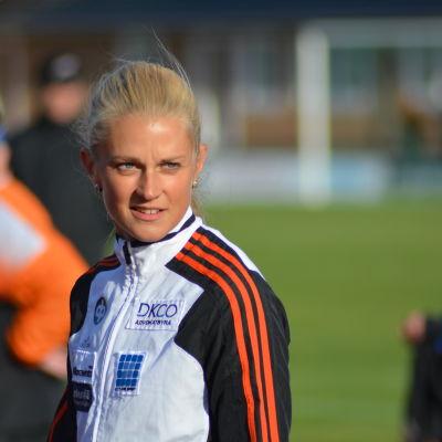 Karin Storbacka, medeldistansare från IK Falken, 2015.