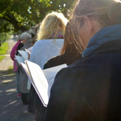 Demonstration för läsning i Sibbo