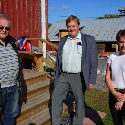 Håkan Nylund, Kjell Heir och Mikaela Sandberg