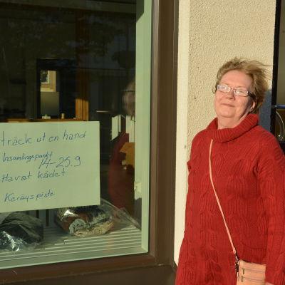 Hangöbon Monica Ferm har organiserat en insamling för flyktingar på Leros.