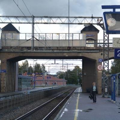 Järnvägsstation i Karis.