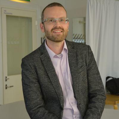 Johannes Nygren i klassrum