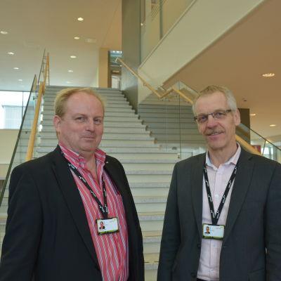 Rektor Max Gripenberg och direktör Rabbe Ede.