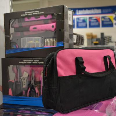 rosafärgade verktyg för kvinnor