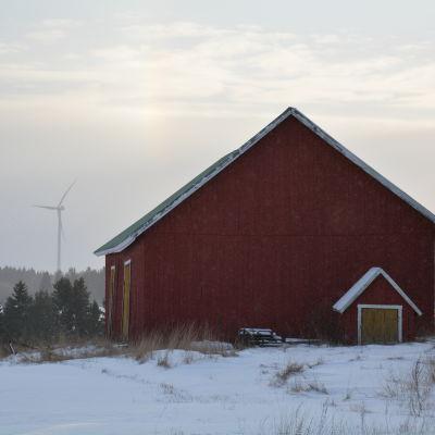 Vindkraftverk i Märynummi i Halikko (Salo)