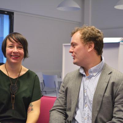 Ylva Larsdotter, Axel Aminoff, tisdagssnack, 3 november 2015