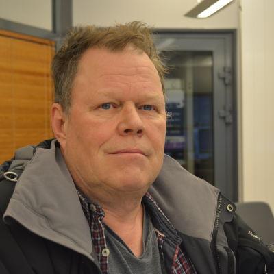 Ordförande för Pappersavdelning 52, Thomas Melarti i Jakobstad