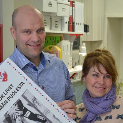 Fredrik Norrena och Nina Brännkärr-Friberg från Project Liv.