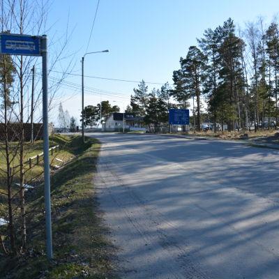 Busshållplats i kasnäs.