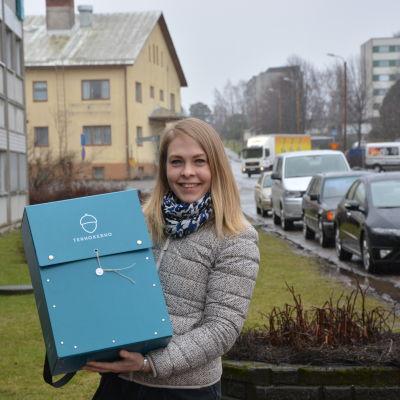 Emma Granholm är lekambassadör för Röda korset.