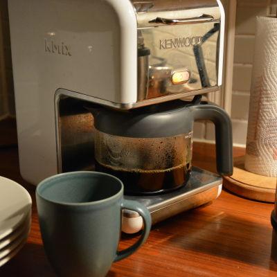 Nybryggt kaffe.
