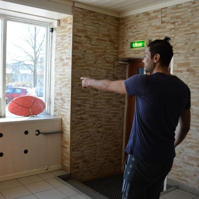 Pizzeria i Pargas utsattes för skadegörelse.