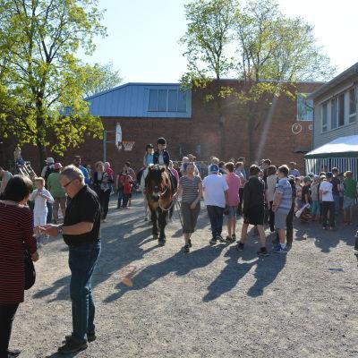 Gårdsfest på Sirkkala skola.