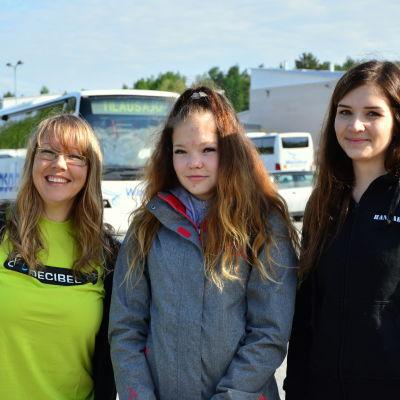 Liselott Nyström, Sofia Svevar och Hannah Skogström.