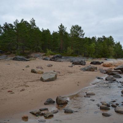 Badstranden vid Merilä lägergård i Jakobstad