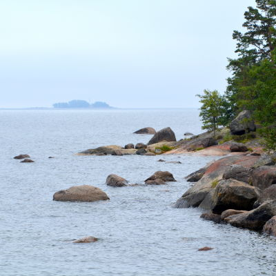 Hav och klippor på Våtskär