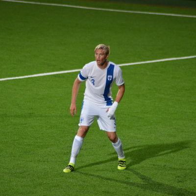 Richard Jensen är ytterback i FInlands U21-landslag.