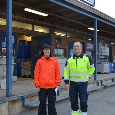 Informatör Nina Lindman och Bengt Burman vid Stormossen.