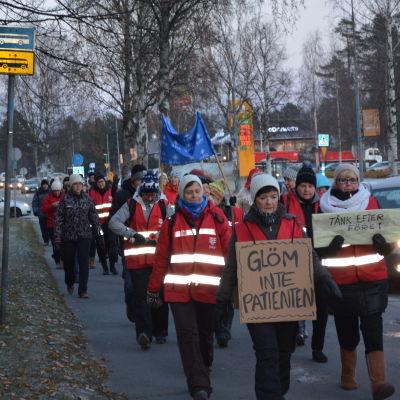Demonstration för Jakobstads sjukhus