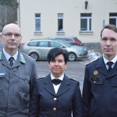 Petri Kosonen, Pirjo Tuominen och Ilkka Horelli.