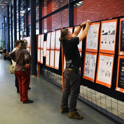 flyktingars serier utställning