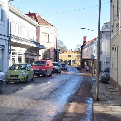 Långgatan i Ekenäs centrum.