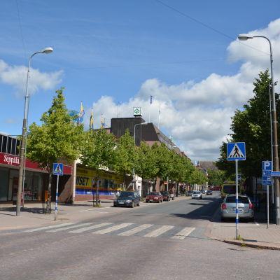 En bild av Larsgatan i Lojo.